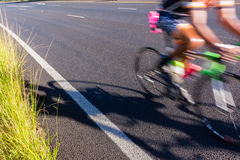 Cycling Cyclist Road Speed Blur Stock Image