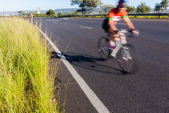 Cycling Cyclist Road Speed Blur Stock Photography