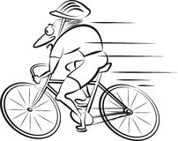 Cycling, cyclist Royalty Free Stock Images