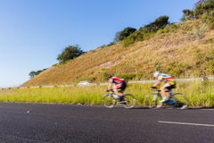 Cycling Cyclists Road Speed Blur Stock Images