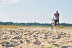Cycling desert race Stock Photography