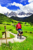 Cycling in Dolomites , northen Italy Stock Images