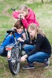 Cycling family Stock Photos