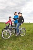 Cycling family Royalty Free Stock Photos