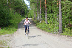 Cycling in Finland Stock Photo