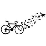 Cycling Floral Wall Decal Vector Illustration Stock Photography
