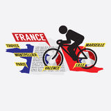 Cycling In France Stock Images
