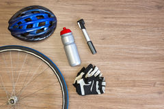 Cycling gear background Stock Photos