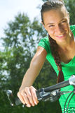 Cycling Girl Royalty Free Stock Photography