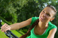 Cycling Girl Stock Photo