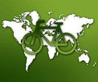 Cycling is green Stock Photos