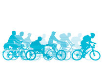 Cycling Group vector illustration