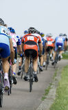 Cycling Group. Group of road cyclists taking part in a competition Stock Photos