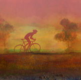 Cycling grunge background Stock Images