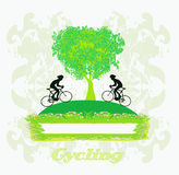 Cycling Grunge card Stock Image