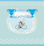 Cycling Grunge illustration Stock Image