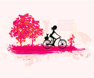 Cycling Grunge Poster Royalty Free Stock Photo
