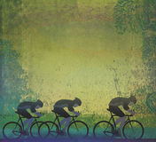 Cycling Grunge Poster Template Stock Image