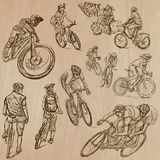 Cycling - An hand drawn vector pack Royalty Free Stock Photos