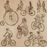 Cycling - An hand drawn vector pack Stock Photos