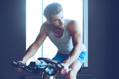 Cycling hard. Stock Photography