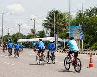Cycling for Health in Thailand. Stock Photos