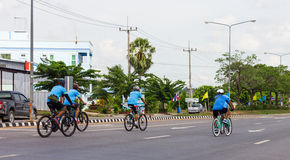Cycling for Health in Thailand. Stock Image