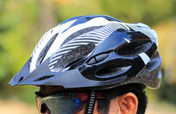 Cycling helmet for safety Stock Photo