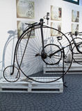 Cycling through history exhibition in Imperia Stock Image