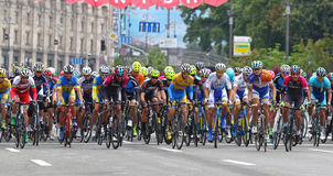 Cycling: Horizon Park Race Maidan in Kyiv, Ukraine Royalty Free Stock Image