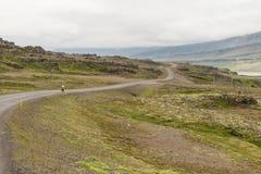 Cycling through Iceland Stock Photos