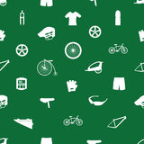 Cycling icon pattern eps10. Green and white cycling icon pattern eps10 Vector Illustration