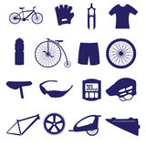 Cycling icon set eps10. Blue cycling icon set eps10 Stock Photography