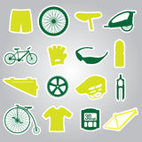 Cycling icon stickers eps10. Color cycling icon stickers eps10 Vector Illustration