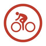 Cycling Icon on white background. Vector Illustration Stock Images