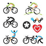 Cycling icons Royalty Free Stock Image