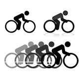 Cycling icons Stock Images