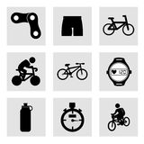 Cycling icons Royalty Free Stock Images