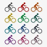 Cycling icons set. Vector icon vector illustration