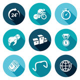 Cycling Icons Set. Vector Illustration Royalty Free Stock Photography