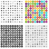 100 cycling icons set vector variant. 100 cycling icons set vector in 4 variant for any web design isolated on white royalty free illustration