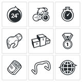 Cycling icons. Vector Illustration. Royalty Free Stock Photos