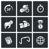 Cycling icons. Vector Illustration. Royalty Free Stock Photo