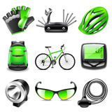 Cycling icons vector set Royalty Free Stock Photography
