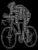 Cycling info-text graphic Royalty Free Stock Images