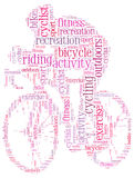 Cycling info-text graphic Stock Photos