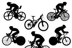Cycling isolated Stock Photo