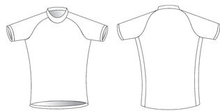 Cycling jersey. Illustration of two blank white t-shirts on white background Royalty Free Stock Photography