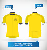 Cycling Jersey. Customizable Vector Cycling Jersey Template vector illustration