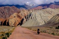 Cycling Kyrgyzstan Stock Image